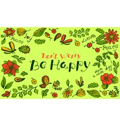 floral background pattern with butterfly vector image vector image