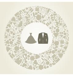 Wedding suit vector image