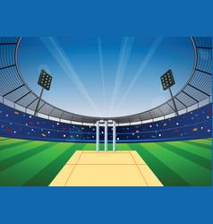 Cricket stadium background vector