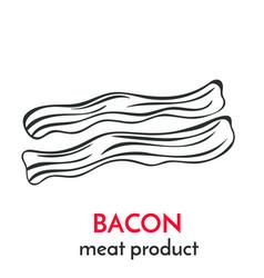 hand drawn bacon icon vector image