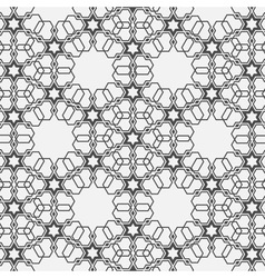 Monochromatic pattern on Islamic motif vector image vector image
