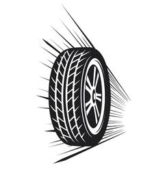 wheel tyre vector image vector image