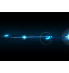 Blue glow lens flare effect design vector image vector image