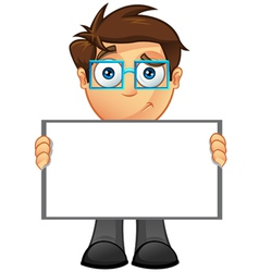 Business Man Blank Sign 12 vector image vector image