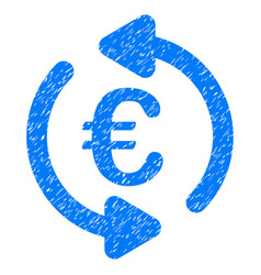 Euro repeat arrows grunge icon vector