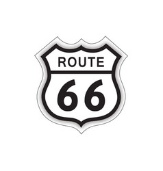 travel usa sign route 66 label american road icon vector image