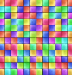 Abstract Colorful Squares Mosaic Pattern vector image