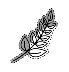 figure plant branch decoration design vector image vector image