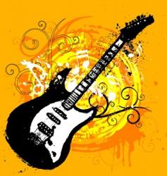 guitar design vector image