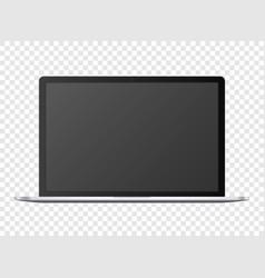 open notebook template black digital portable vector image