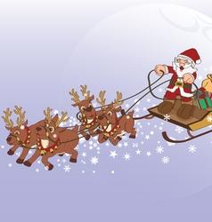 Santa Claus Xmas gift vector image vector image