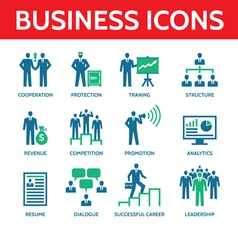 12 Business Icons - Business People vector