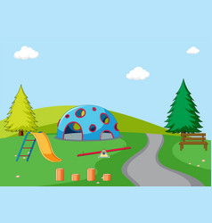 a simple playground scene vector image