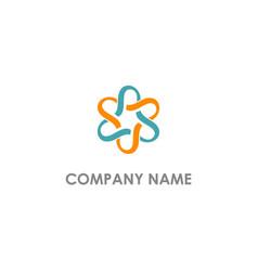abstract circle connection company logo vector image