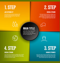 Abstract infographic template with 4 steps vector