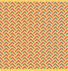 abstract retro zig zag seamless pattern vector image