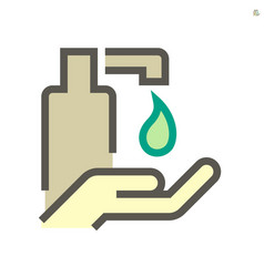 Alcohol gel and hands washing icon design 64x64 vector