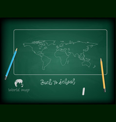 back to school background and world maps vector image