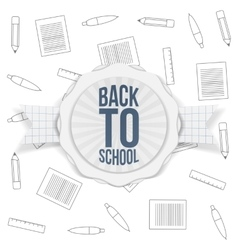 Back to School Holiday Badge vector