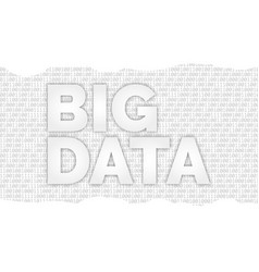 backdrop and binary code and the words big data vector image