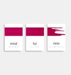 banner-mindfulness-pink vector image