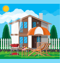 bbq party concept vector image