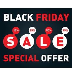 Black friday sale banner on dark background vector image