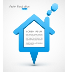 Blue house pointer vector