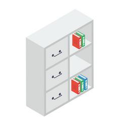 Bookshelf isometric vector