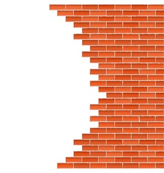 Broken brick wall vector
