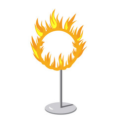 Burning hoop icon cartoon style vector