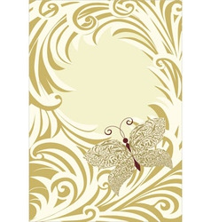 butterfly frame card vector image