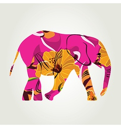 Cartoon elephant vector image