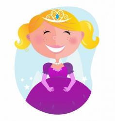 cartoon princess vector image