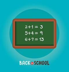 Chalkboard class math back to school vector