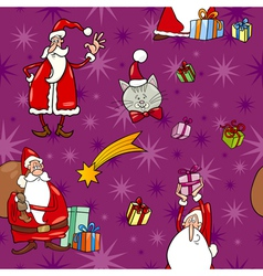 Christmas cartoon seamless pattern tile vector