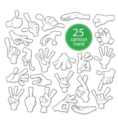 Comics Cartoon Hands vector image