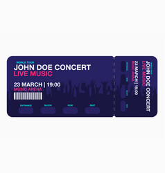 Concert ticket template concert party or festival vector