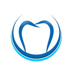 dental crescent shape symbol design vector image