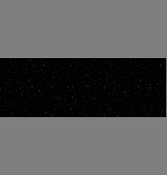 detailed panoramic night starry black sky vector image