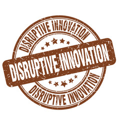 Disruptive innovation brown grunge stamp vector