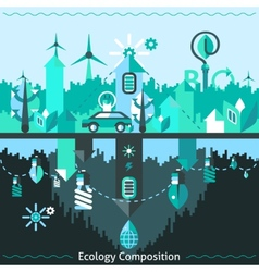 Ecology And Recycling Composition vector image