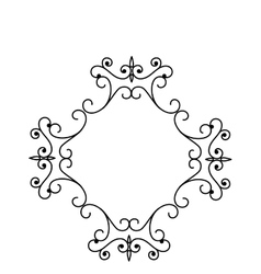 elegant victorian frame icon vector image