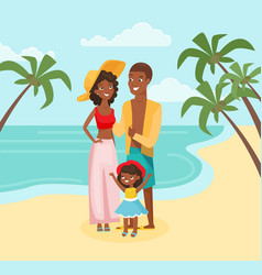 family vacation flat vector image