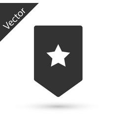 Grey chevron icon isolated on white background vector