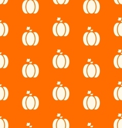 Halloween pumpkins seamless pattern Watercolor vector image