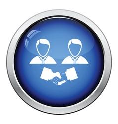 Hand shake icon vector image