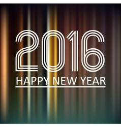 Happy new year 2016 on dark color lines background vector