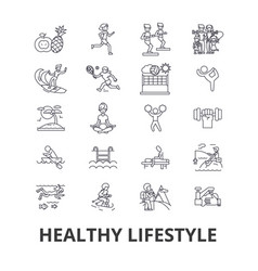 healthy lifestyle active living natural food vector image