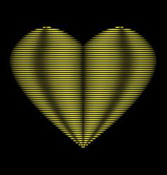 Heart gold line on black background sign 312 vector